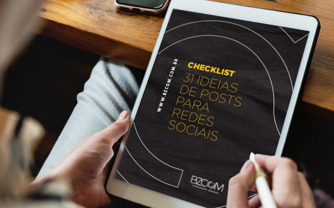 Confira 31 ideias de posts para redes sociais